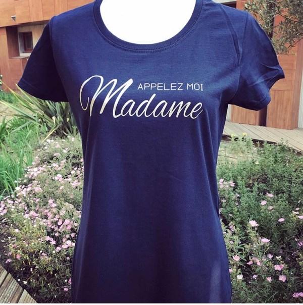 Tee-shirt appelez moi Madame