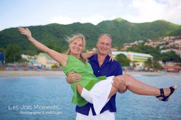 Seance photo touristes russes en Martinique 10