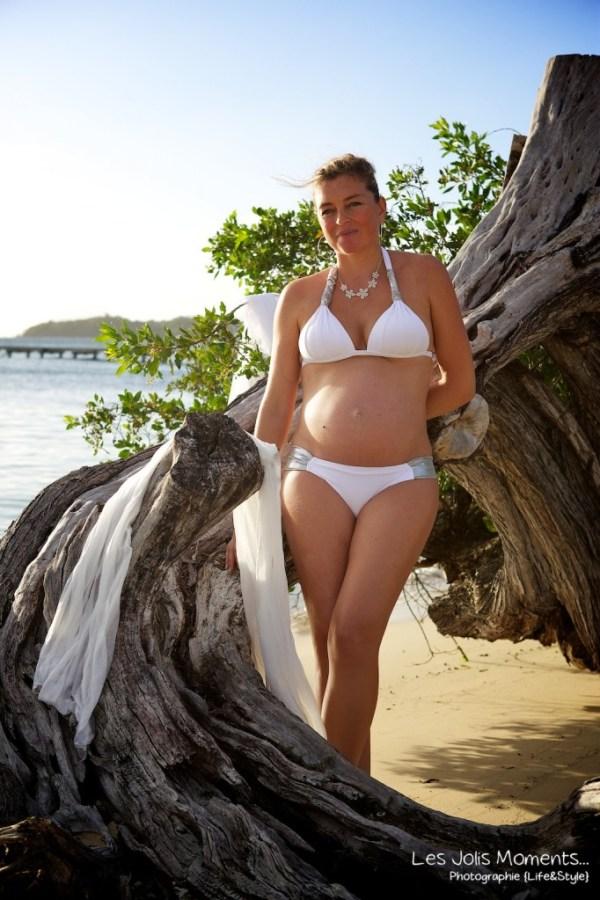 seance grossesse a la plage Martinique 2