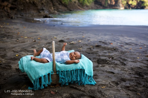Seance photo bebe anse Noire Martinique 1