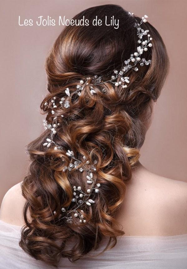 bijou de cheveux mariage perles strass