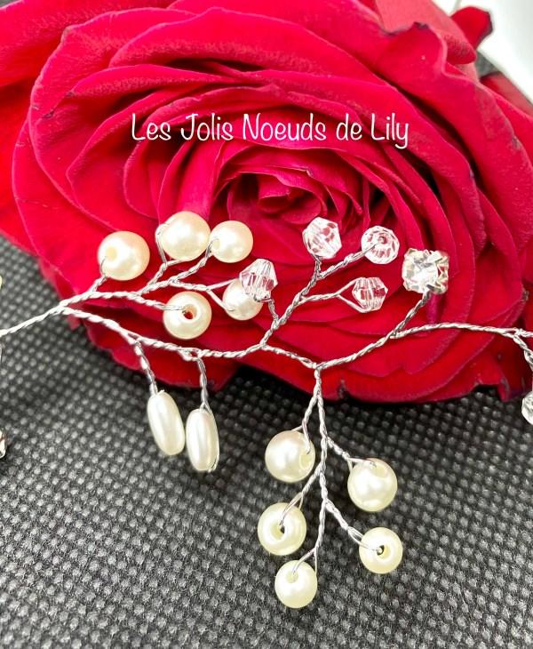 bijou de cheveux perles strass mariage