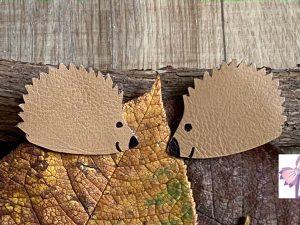 barrette hérisson automne noeuds liège création petite fille bébé
