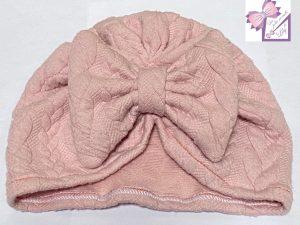turban bébé rose torsadé naissance cadeau fait main fille bandeau