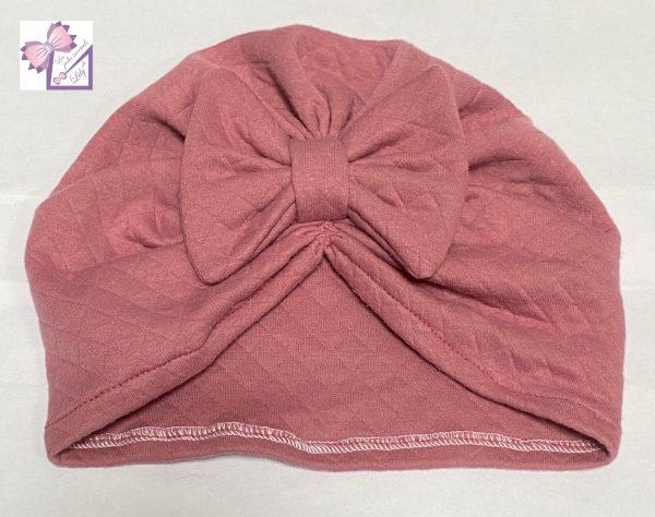 turban bébé rose naissance cadeau fait main fille bandeau