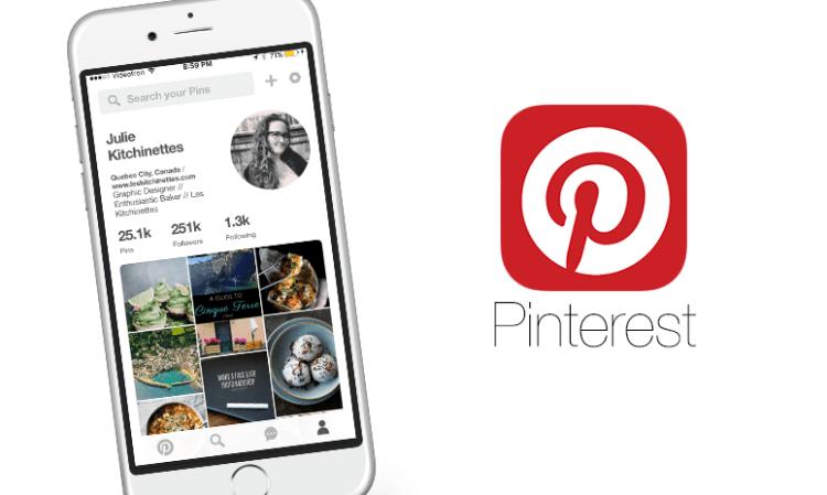 Application PINTEREST sur iphone