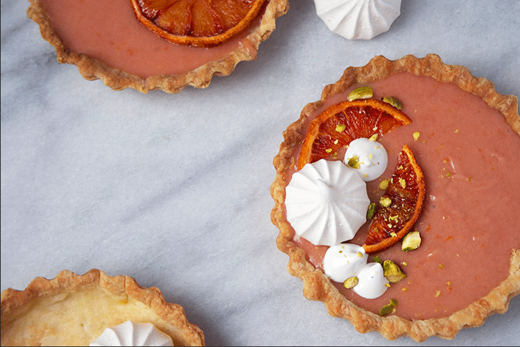 tartes tartelettes orange sanguine
