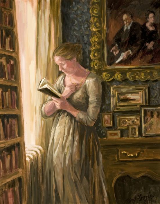 Mary-Ferris-Kelly-Woman-Reading-in-a-Study