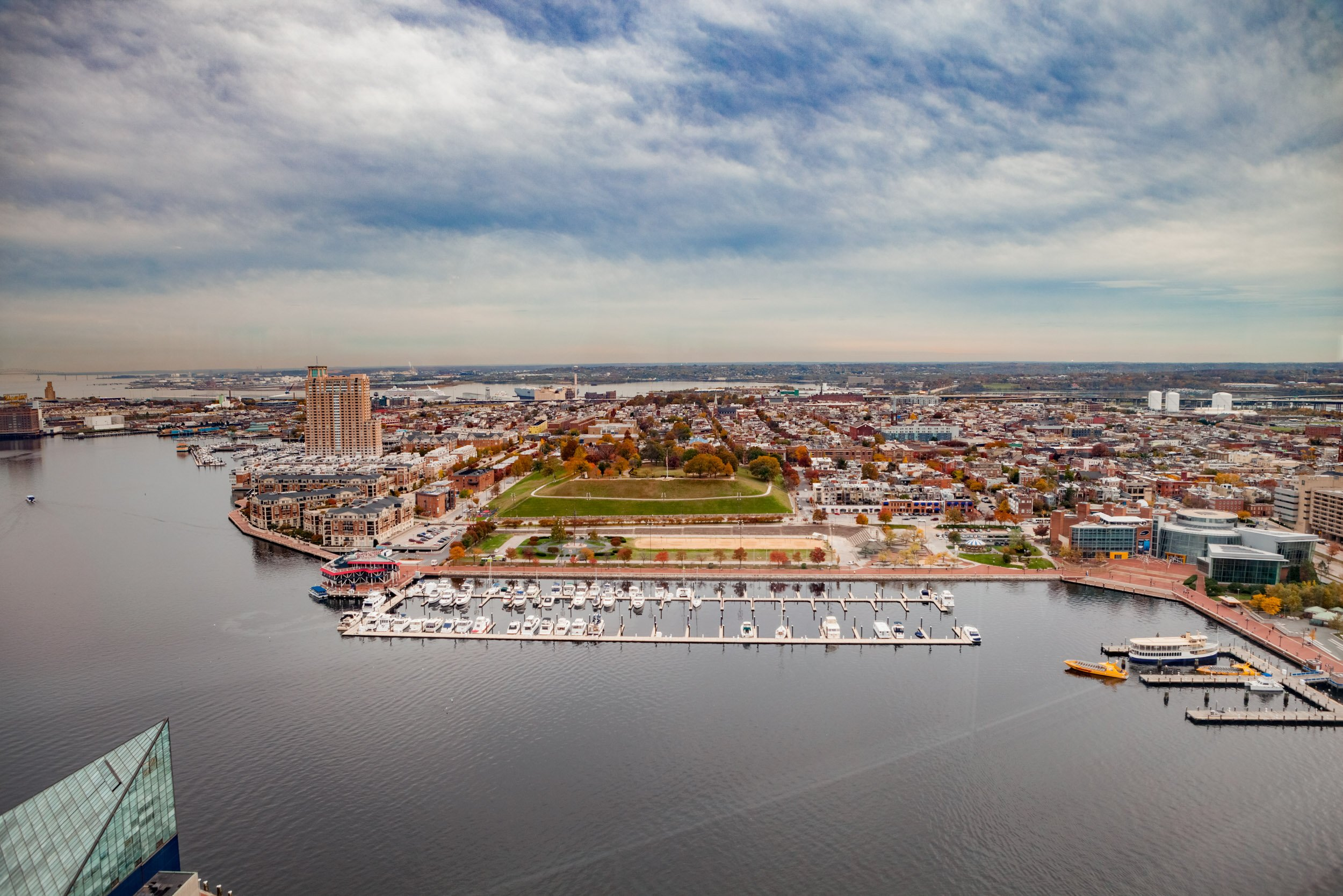 Baltimore Inner Harbor Aerial View