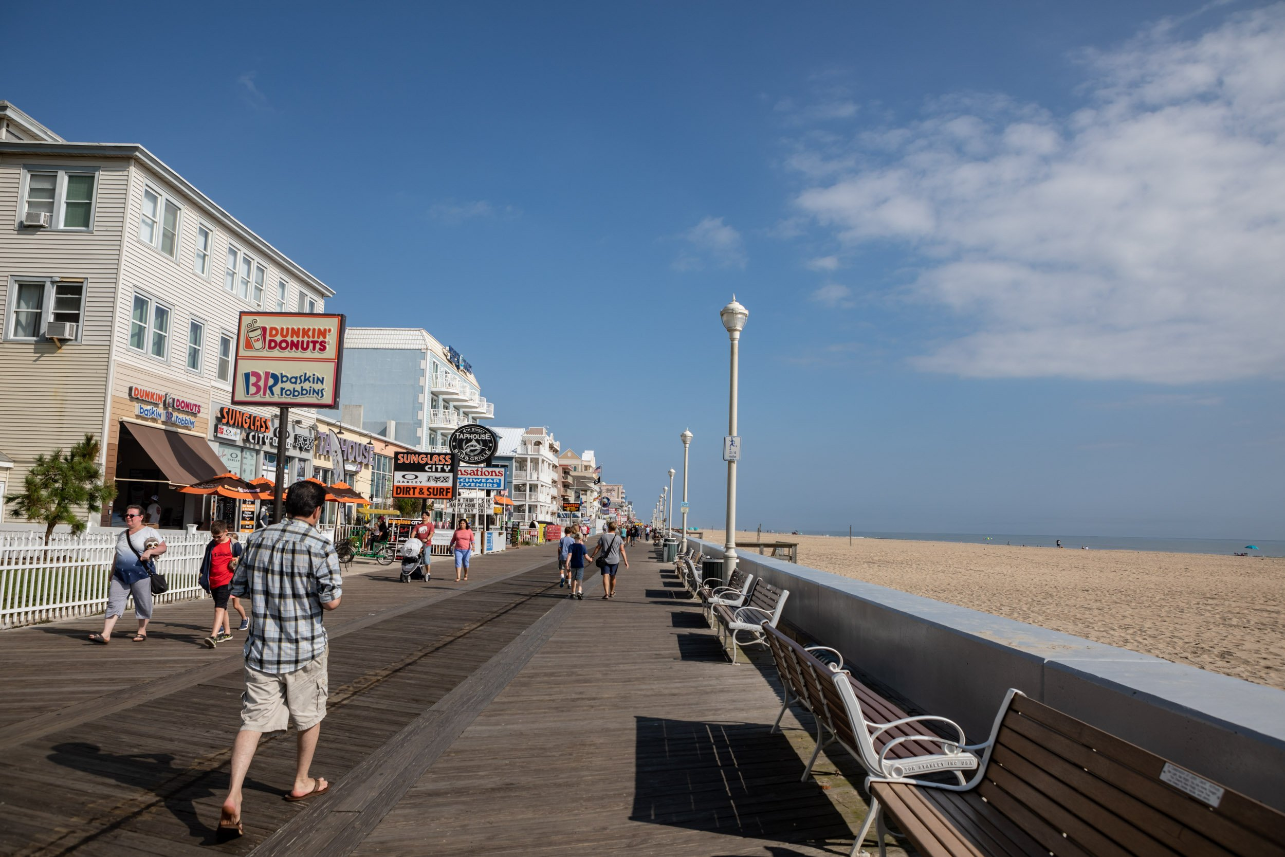 Boardwalk at Ocean City, Maryland