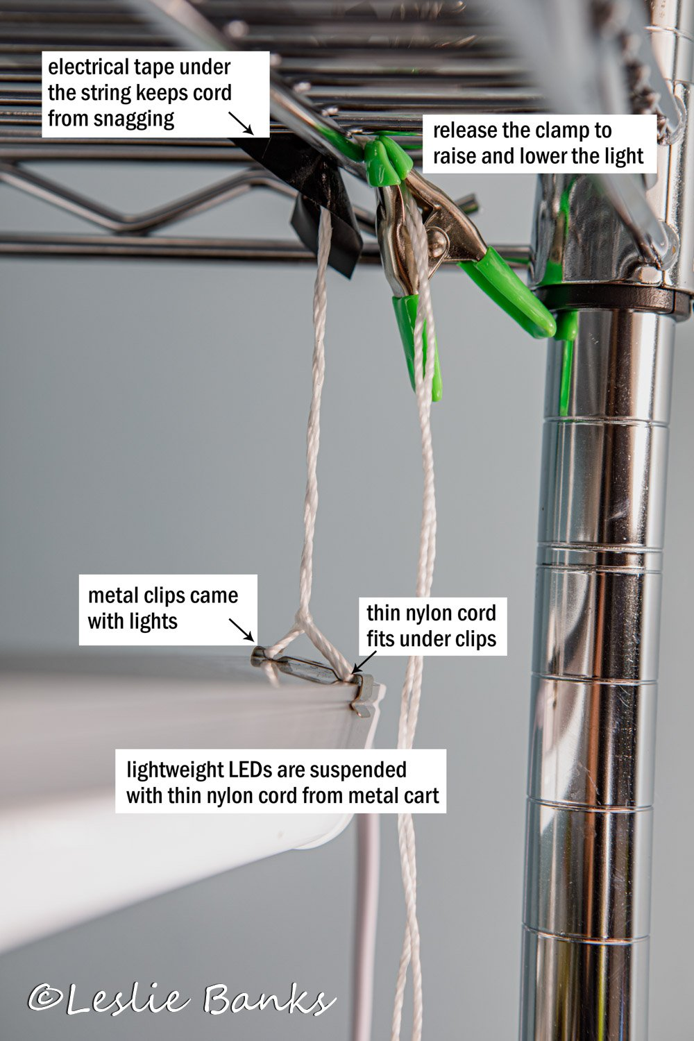 Grow Light Pulley System