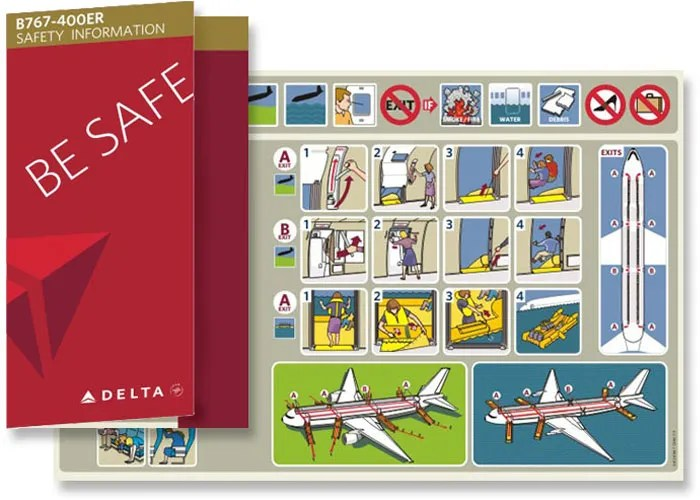 Delta Passenger Safety Information Card