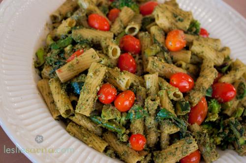 Veggie Pesto Pasta