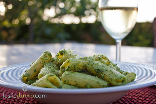 Lemon & Spinach Pesto Pasta