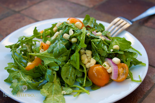 Arugula & Corn Summer Salad
