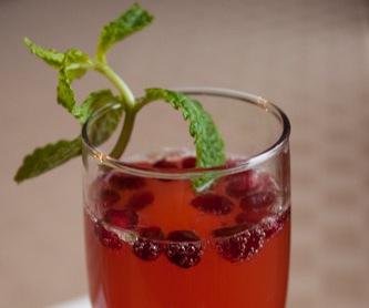 Pomegranate Mint Sparklers