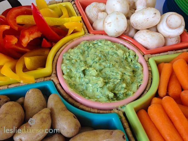 Caramelized Onion, Spinach, and Avocado Dip