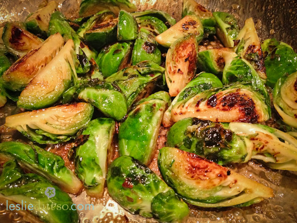 Maple Brussel Sprouts from Leslie Durso