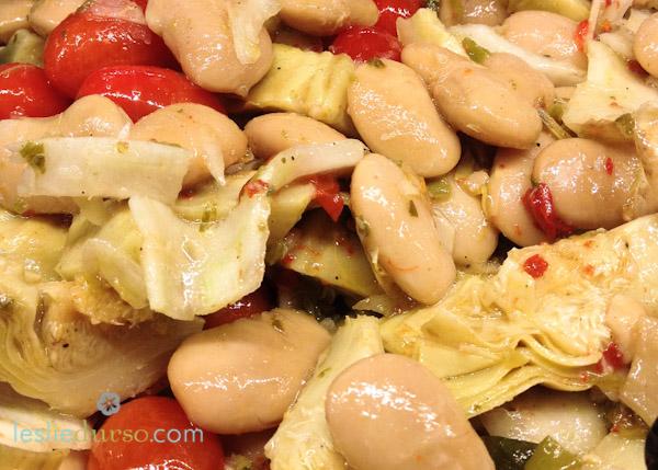 Italian Gigante Bean Salad
