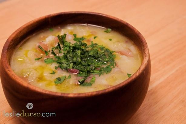Vegan Potato Leek Soup from Leslie Durso