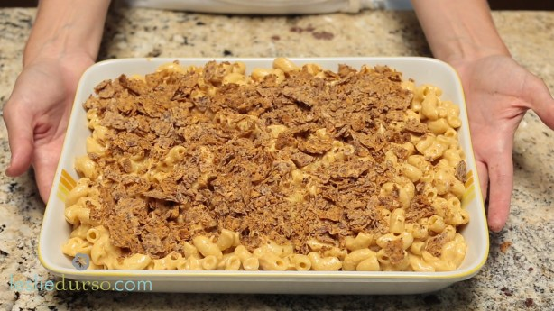 Vegan Mac n' Cheese with a Nacho Chip Crust