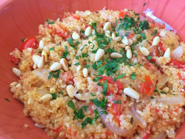 Tomato Quinoa Risotto by Leslie Durso