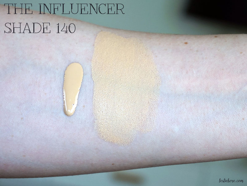 SUNDAY RILEY The Influencer Clean Long Wear Foundation 140 swatch