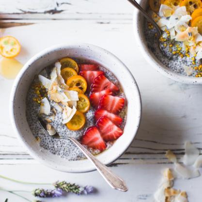 chia pudding breakfast bowl
