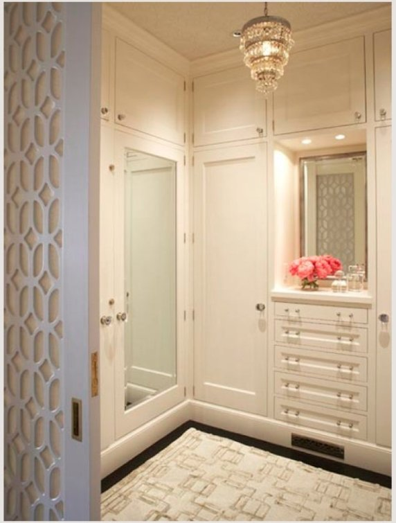 I adore the fret work detail on these pocket doors....