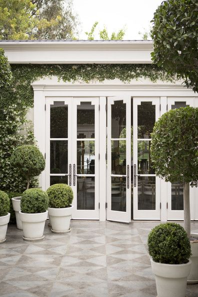 These doors don't need to scream it...they are just a gentle reminder that this house has style.....