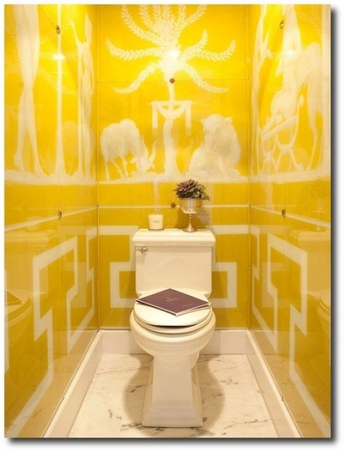 Powder rooms are like little jewel boxes... paintedfurnitureonline.com