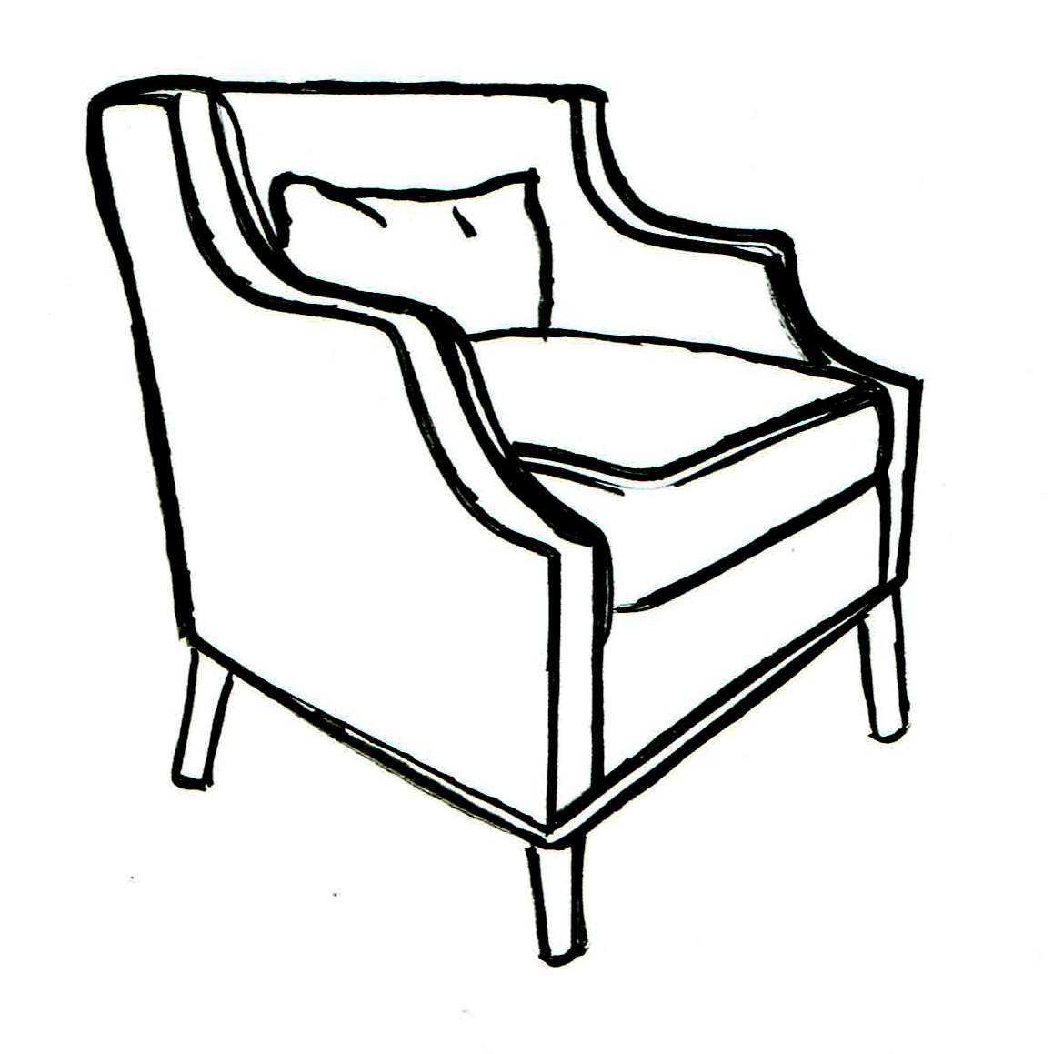 Reeve Sculpted Tub Chair