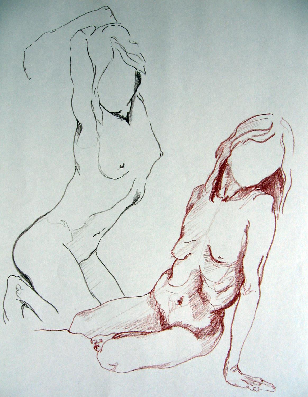 Faceless People Drawings