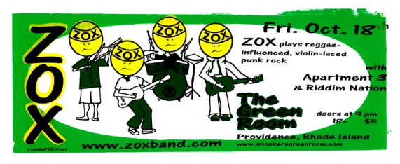 "Zox Heads, 8"" x 24"", screenprint, 2002."