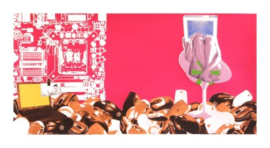 "Musophobia, screenprint, 22"" x 40"", 2010."