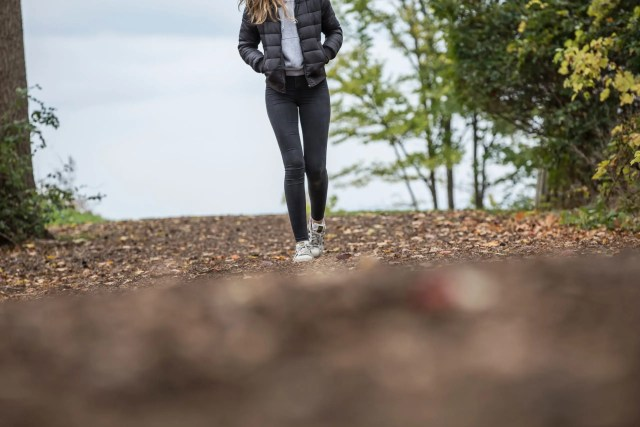 getting active once a day; self-care tips; walking outside