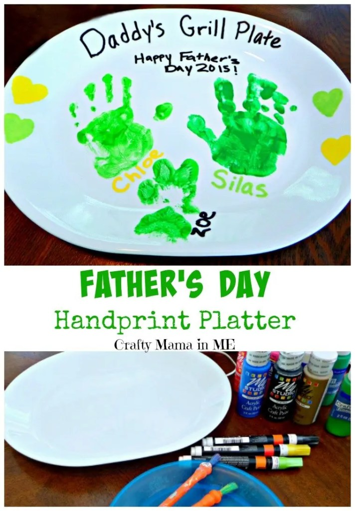 Daddy's Handprint Platter Father's Day Craft