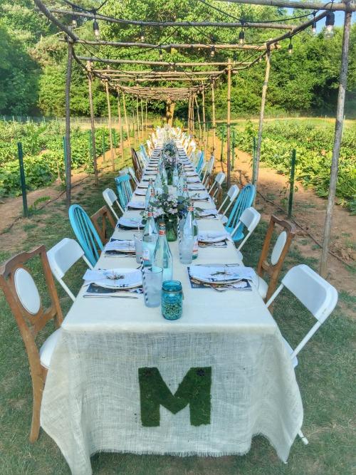 miltons garden dinner table
