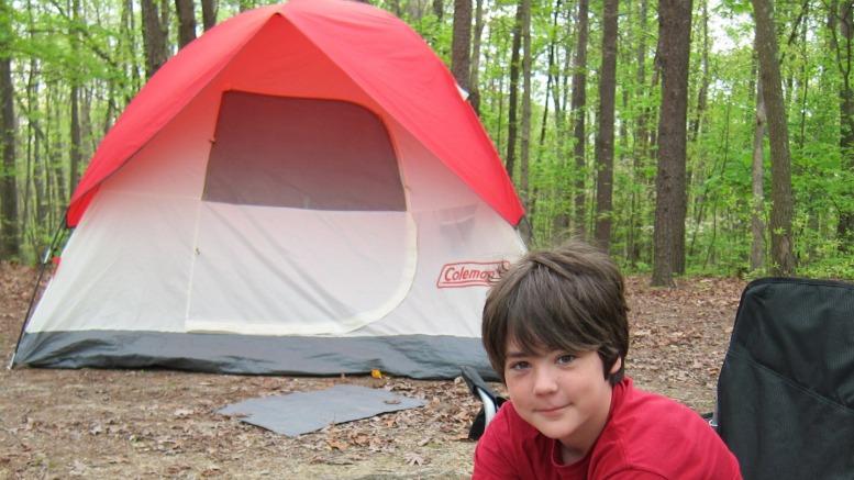camping at Cloudland Canyon State Park in Rising Fawn, Ga.