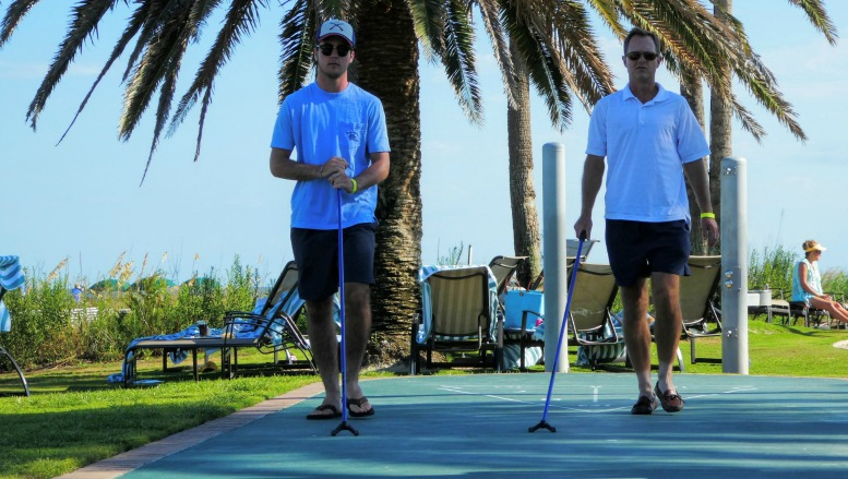 The Beach Club at Sea Island has lots of amenities, including shuffleboard.