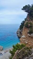 View unfolds as I reach Cala Goloritzè