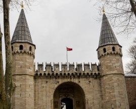 Castle-like entry