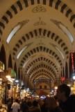 Inside the spice bazaar hall