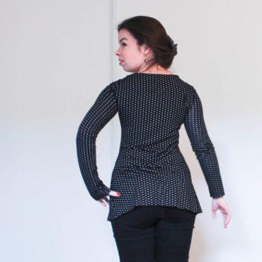 t-shirt noir à pois blancs - les lubies de louise (3 sur 3)