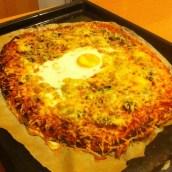 Après l'effort le réconfort avec une pizza maison faite par mon chéri ♥