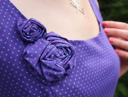 Robe violette à pois turquoises - Les lubies de louise (8 sur 9) copie