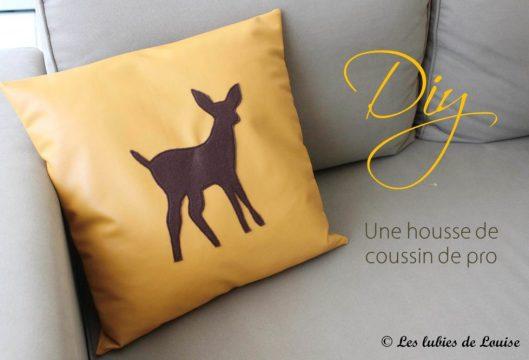 DIY Housse de coussin de pro Automne - Les lubies de Louise (titre)