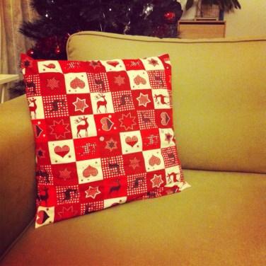 Mes nouveaux coussins de Noël