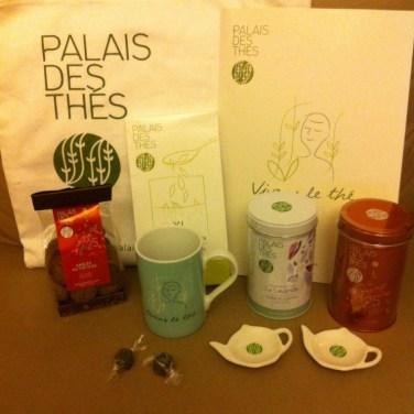 Mes cadeaux, merci palais des Thés !