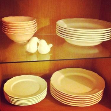 Ma nouvelle vaisselle romantique